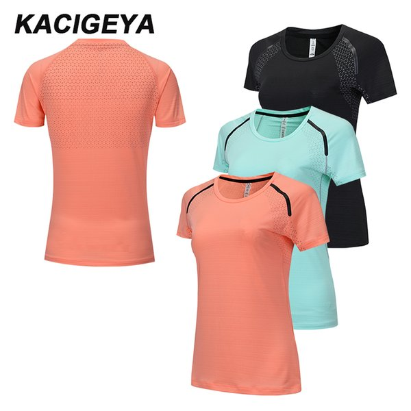 Yoga Top Women Gym Sports Short Sleeves Quick Dry T Shirt Fitness Running Jogging Breathable Shirts Workout 2019 Female Jersey