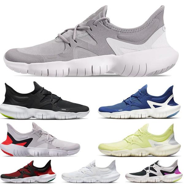 2019 Free RN 5.0 para hombre Zapatillas de deporte para hombre Diseñador de moda Zapatillas deportivas Verano Cool Transpirable RUN Mujer Zapatos ligeros 35-44 EUR