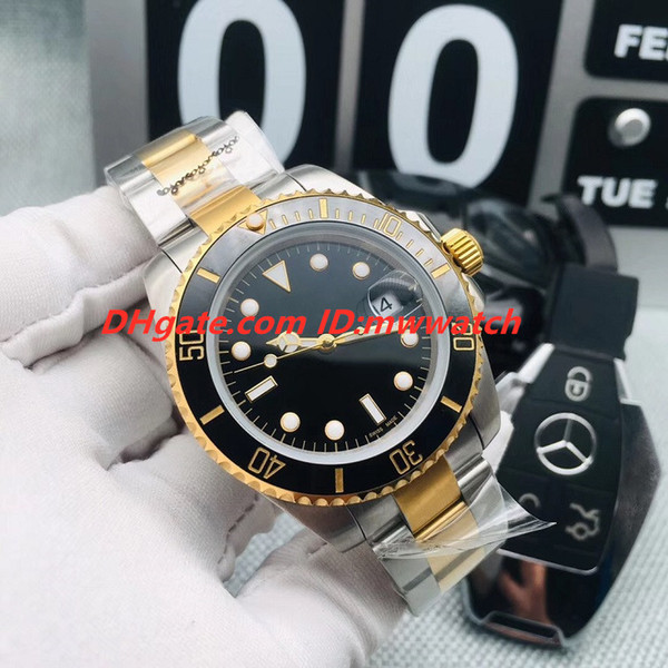 Фабрика прямые мужские 40 мм часы 3-контактный воды призрак дайвинг автоматические механические часы с сапфировым стеклом керамическая рамка классические часы