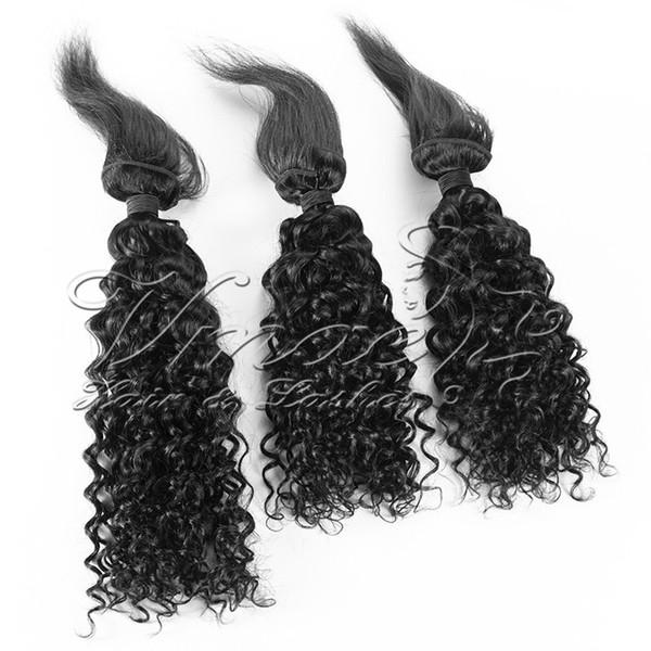 Nuovo arrivo intrecciare i capelli 3 pezzi lotto onda d'acqua treccia in fasci di capelli umani brasiliani crudi vergini cuticole allineati estensione dei capelli umani