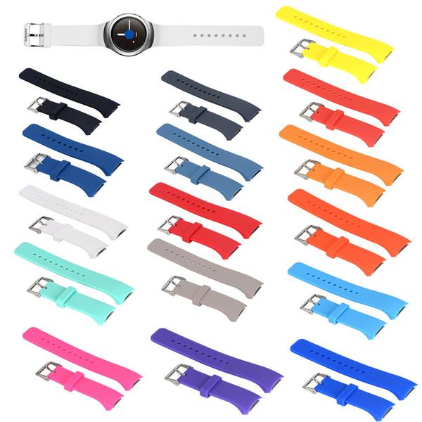 Banda de reloj de silicona de moda para Samsung Galaxy Gear S2 R720 R730 correa de banda reloj deportivo pulsera de repuesto TTA1654