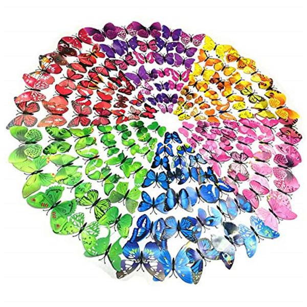 12 Stücke 3D Schmetterling Wandaufkleber Abnehmbare DIY Kunst Dekor Handwerk Magneten und Kleber Aufkleber Für Kindergarten Klassenzimmer Büros Kinder Schlafzimmer