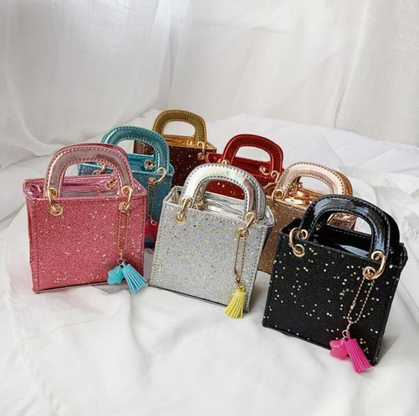 Borse per bambini Borse per bambini Designer Borse per ragazze principessa coreane Borse per bambini Borse per borse colorate coreane di alta qualità B11