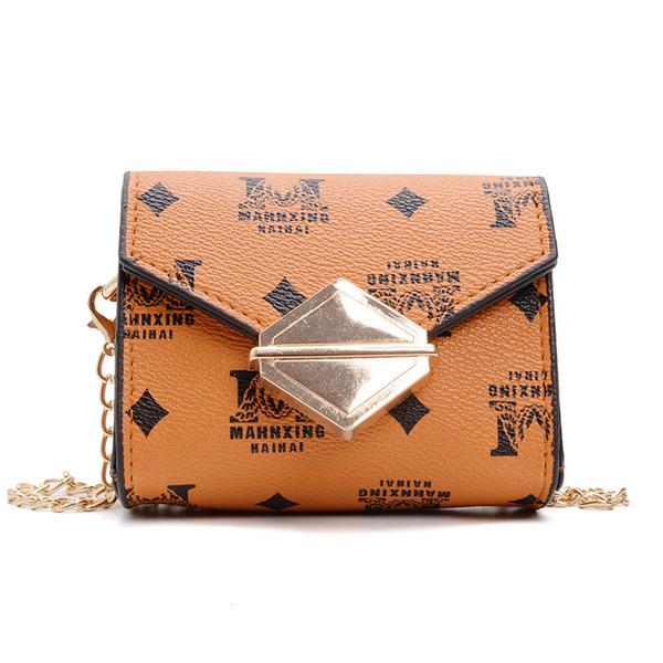 2019 color summer girls small bag princess cute square letter Messenger bag purse tide children shoulder bag