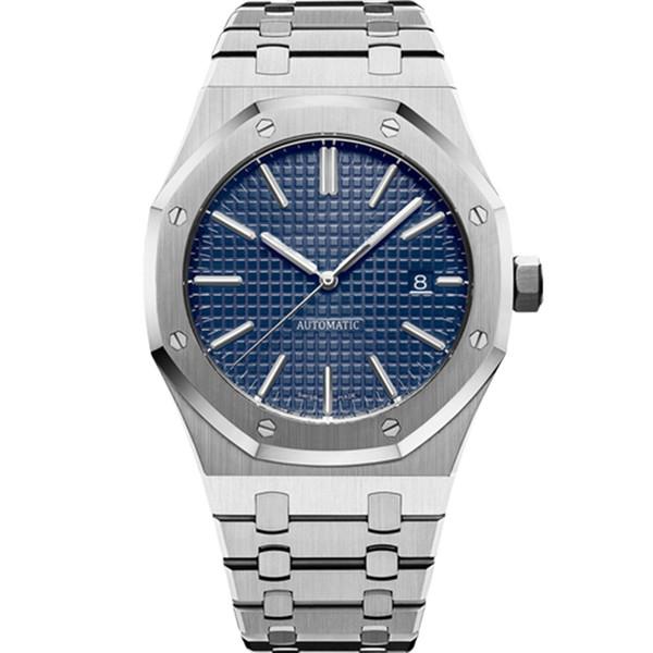 Luxury watch men watches Automatic mechanical watches 15400ST model Stainless steel sports watch Business waterproof luminous wristwatch
