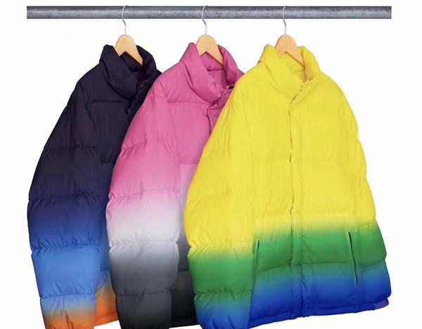 Suprême men designer jacket coat mens winter jacket high quality warm men coat box logo candy color windproof couple jackets cotton clothing