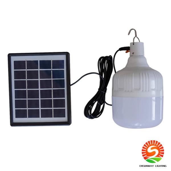 30-80W Bombilla solar IP55 control remoto lámpara solar bombilla solar emergencia luz de emergencia bombilla de carga lámpara de cabina luz