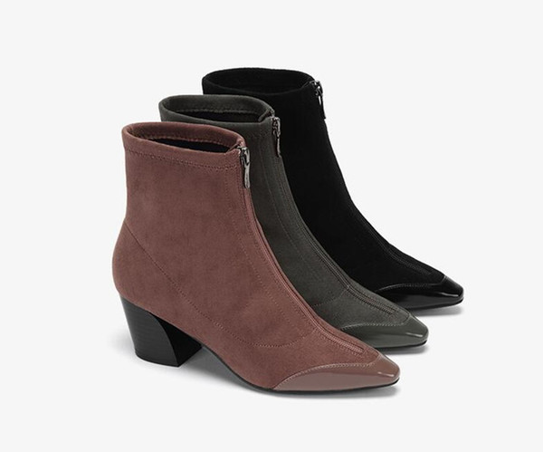 Hot new fashion woman Daphne women's shoes fashion sexy pointed stitching elastic socks boots comfortable booties female 1018605873 size EU3