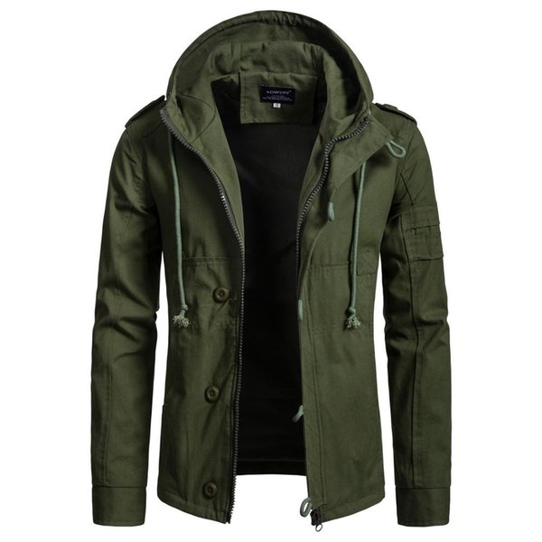 iSurvivor 2019 Men Jacket Coat Fashion Trench Coat New Spring Brand Casual Fit Overcoat Jacket Outerwear Male Plus Size