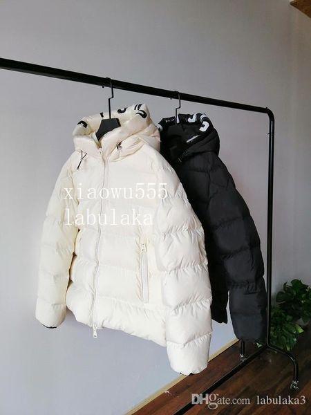 2019 Официальный новый продукт марка мужчины зимы вниз пальто вниз ветровки с капюшоном мальчик сгущает письмо пуховик 2 цвет