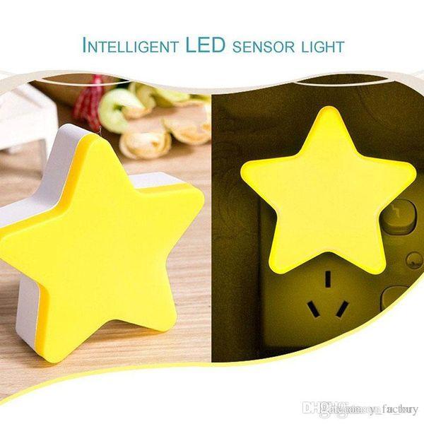 4 colors Modern Star Shape Wall Light LED Induction Lamp Nightlight Automatic Switch Light Sensor Household Supplies Energy Saving
