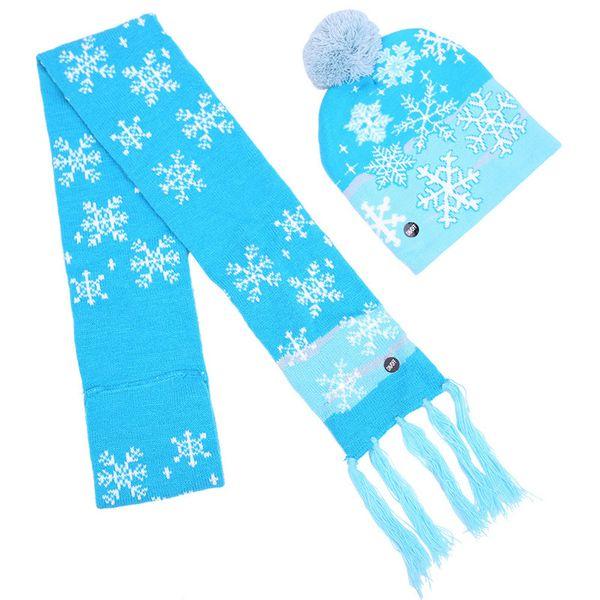 006 LED hat + scarf