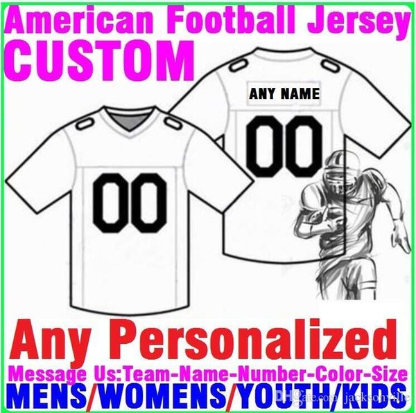 Personalized american football jerseys Custom Minnesota Dallas college authentic cheap baseball basketball mens womens youth USA 4xl name