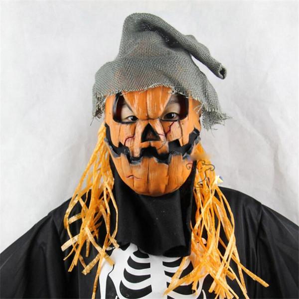 Halloween Abóbora Espantalho Máscara de Horror De Látex Oco Designer Chapelaria Prom Personalidade Adereços Moda Festival Máscaras