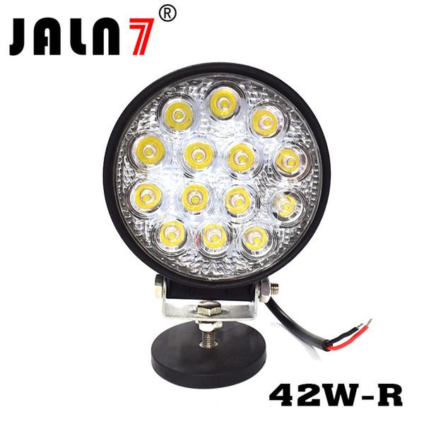 La lumière de travail de LED 42W ronde 4 conduite de LED La lumière de faisceau de tache de tache a mené des lumières pour le pare-chocs de camion de Jeep Tacoma