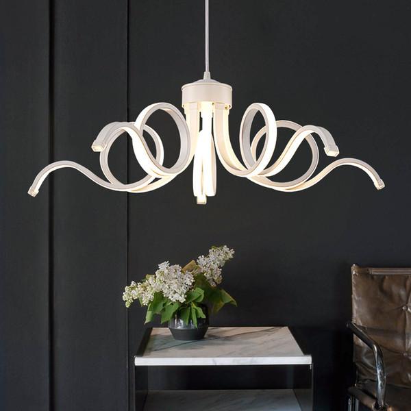 LED pulpo araña Salón Dormitorio Restaurante arañas de control remoto Pantalla Blanca arañas de boda Iluminación de acrílico