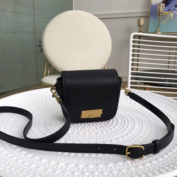 2019 new diagonal bag designer ladies shoulder bag black leather to create flap cover snap closure switch fashion casual style