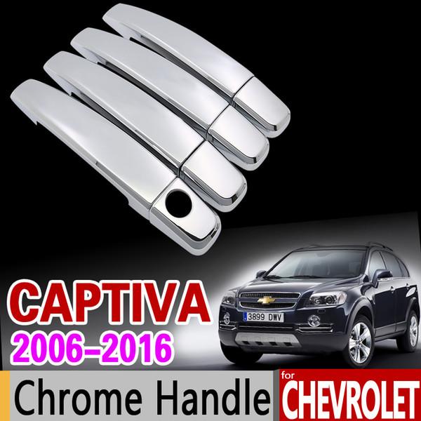 Car Chrome Door Handle Cover Trim Set for Chevrolet Captiva 2006 - 2018 Holden Daewoo Winstorm Accessories 2008 2010 2014 2017