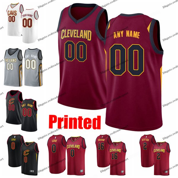 new concept d677c 2acb9 2019 Printed Cleveland City Cavaliers Clarkson Kevin Love Tristan Thompson  Cedi Osman Collin Sexton CAVS Edition Basketball Jersey From Redtradesport,  ...