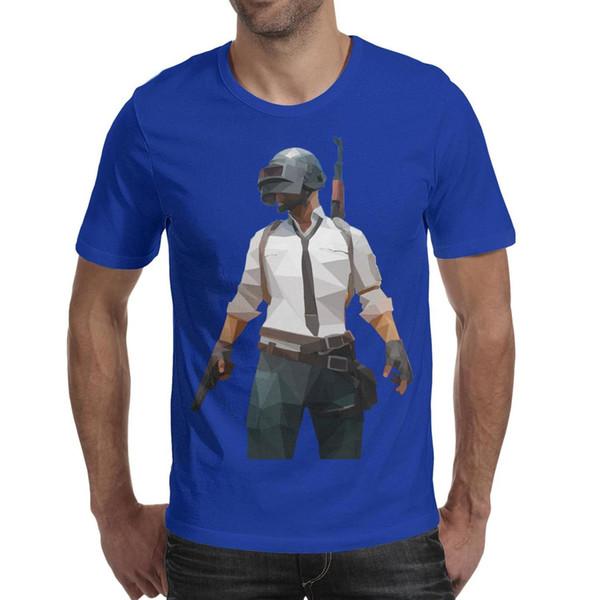 Battlegrounds do Playerunknown's vencedor frango jantar azul dos homens de manga curta t shirts impressão t camisa de algodão gráfico engraçado mens Tops Pu