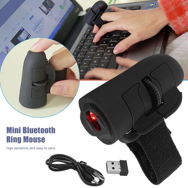 Mini Parmak Fare Kablosuz Iletişim USB Optik Halka Fareler Dizüstü PC için Yeni Varış