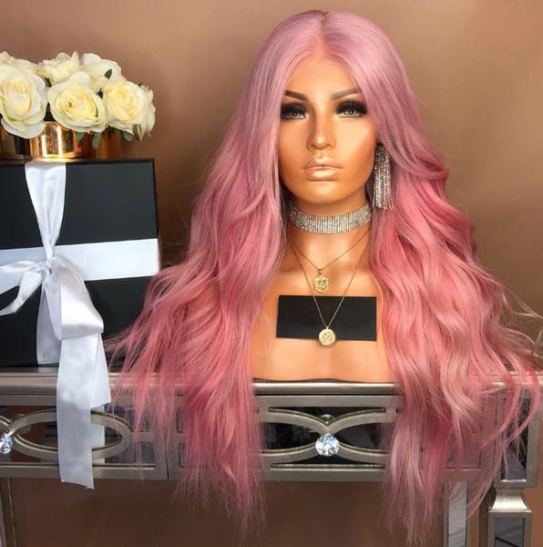 wangxiaofeng806 / 2019 Haar Perücken lange lockige Kunsthaar volle Perücken Haarteile für Frauen natürlich aussehende hitzebeständig