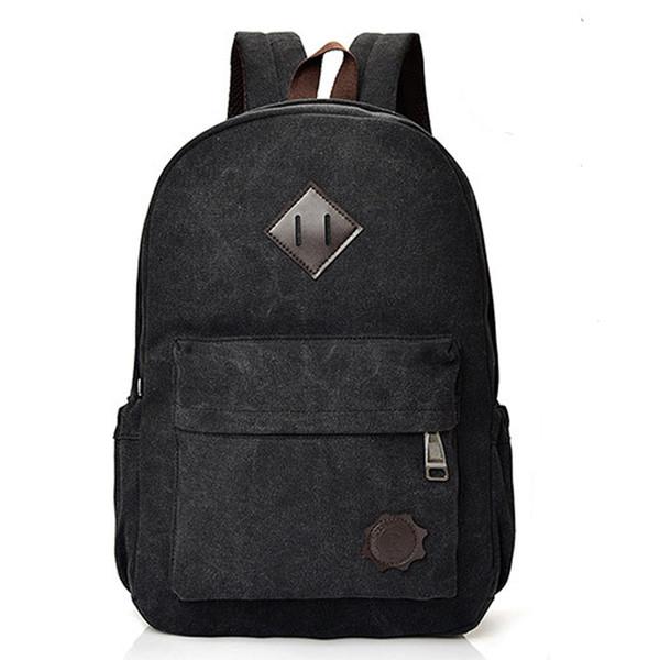 Viajes Hombres escuela mochila de lona mochila con cordón Hombres Mujeres hombro Mochilas Mochila adolescentes portátil Volver Pack # T2G