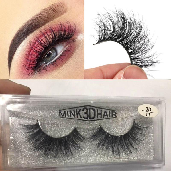 3D Mink Eyelashes Messy Eye lash Extension Sexy Eyelash Full Strip Eye Lashes By chemical fiber MMA1235