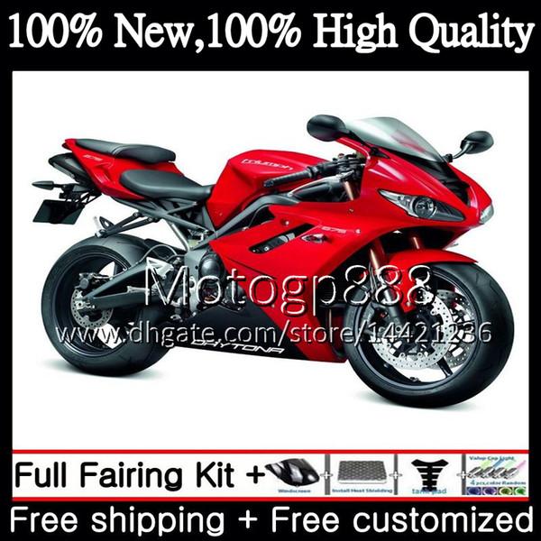 Bodywork For Triumph Daytona 675 09 10 11 12 Body Factory red 8PG5 Daytona675 09-12 Daytona 675 2009 2010 2011 2012 Hot Fairing Bodywork