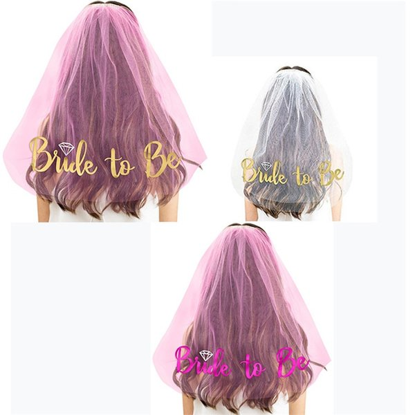 BRIDE TO BE Letter Wedding Veil Female Sex Single Banquet Ornament Diamonds Pattern Decorate Valentines Day Bachelorette Party 5 8qrb1