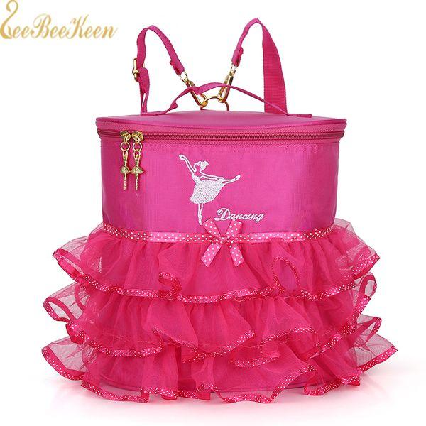 Kinder Ballett Taschen Dual Use Rucksack / Handtasche Leinwand Ballett Tanz Tasche für Mädchen Tanzen für den Start Tanz Kinder Ballerina