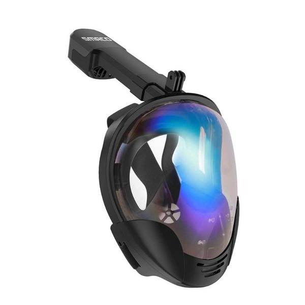 SMACO Full Face Snorkeling Mask Set Diving Underwater Swimming Training Scuba Anti-fog Anti-Leak Snorkeling Mask For Camera