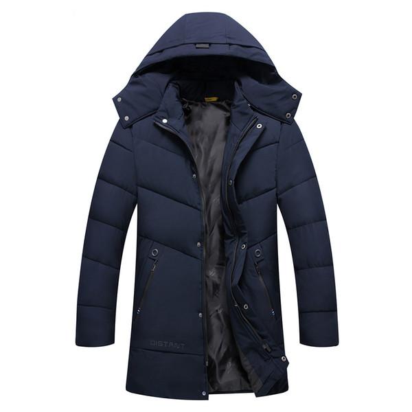 Men Jacket Mens Men's Autumn Winter Pure color Pocket Open a hat Zipper Hooded Jacket Top Coat Casual Mens Male Coats 6Xl