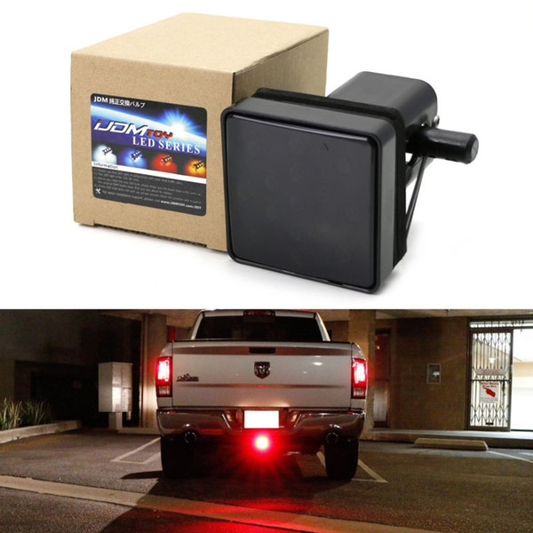 Car taillight Trailer Truck Hitch Towing Receiver Cover Smoked Lens 15 LED Brake Light