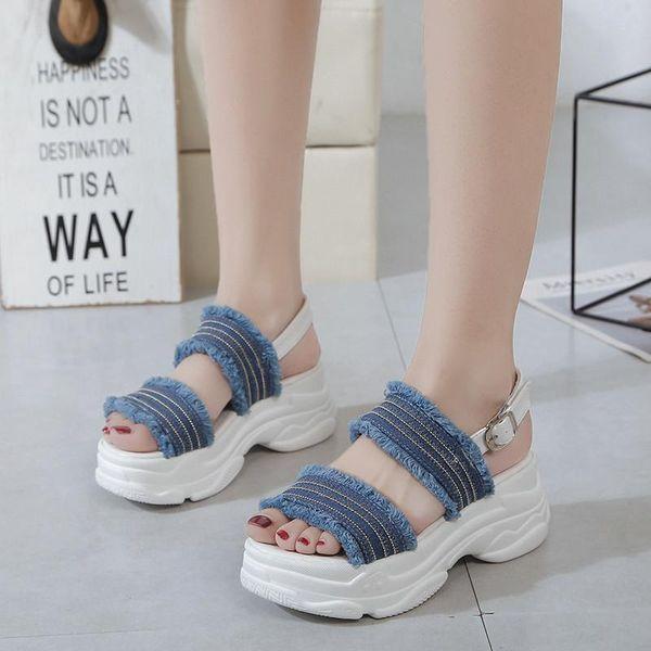 COOTELILI Beach Sandals For Women Buckle Strap Platform Sandals Summer Flat Shoes Sandals Female Sandalen women shoes