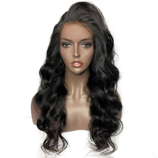 Brazilian Virgin Human Hair High Quality Swiss Lace Front Wigs Full Lace Wig Loose Wave Various Density For Woman