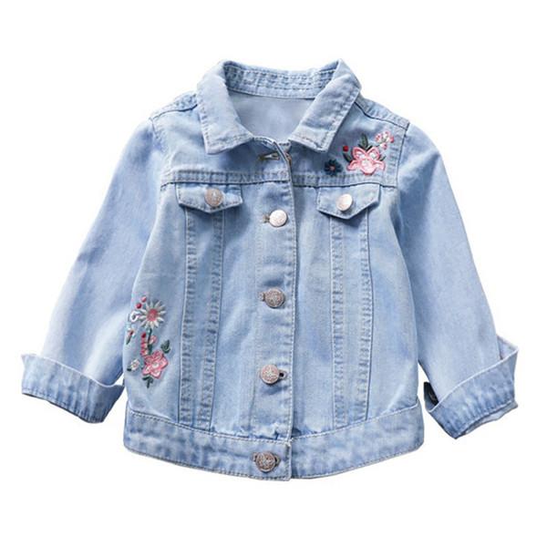 Autumn Denim Jacket Girls Coats Children Clothing Outerwear Soft Jean Jackets Child Girls Coats Baby Girls Clothes