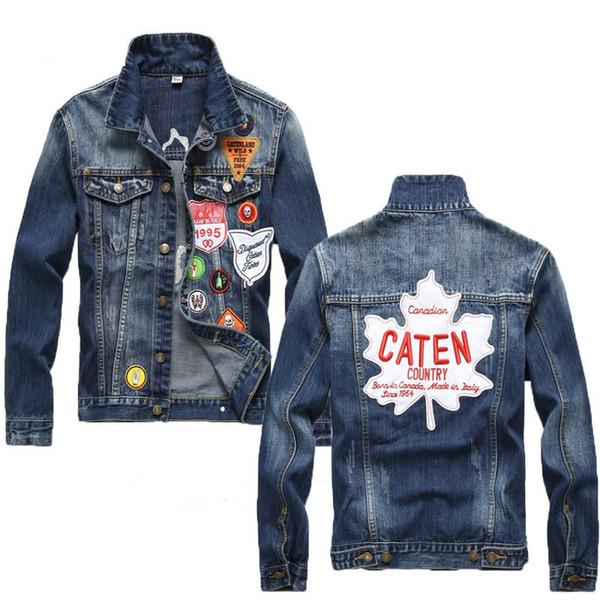 2019 nuevo Mens chaquetas de lujo de diseño de alta calidad Casual Denim bordado diseñador Chaqueta Micro Capítulo chaqueta apretada