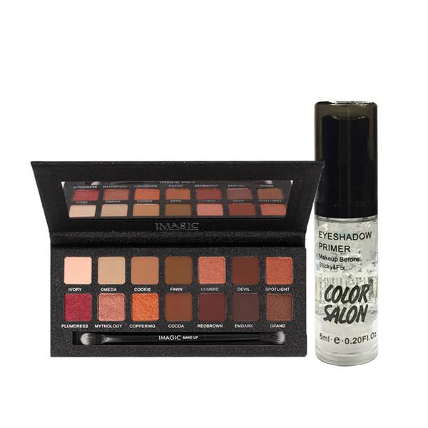 Imagic 14 Color Matte Nude Eye Shadow Pallete Matte Shimmer Base Gel Beauty Cosmetics Kit For Make Up Maquiagem