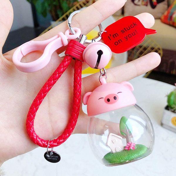Cute Kawaii Kitten Cat Key Chain Ring Anime Totoro Keychain Creative Trinket Charm Women Girl Kids Keyring