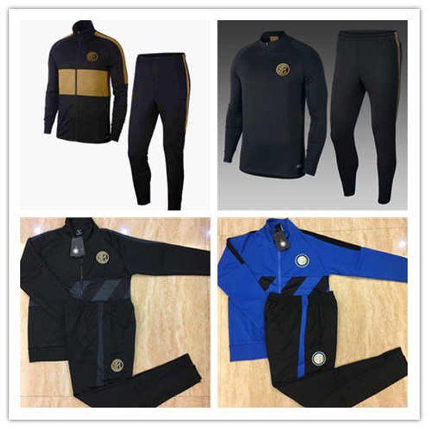 TOP 2018 2019 INTER calcio giacca Tuta Kit ICARDI nainggolan LAUTARO PERISIC NAINGGOLAN 18/19 inter Hoodie giacca allenamento set