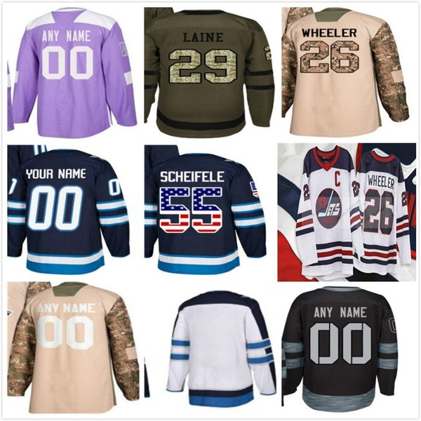 promo code b3660 e96a6 2019 Winnipeg Jets Custom 26 Patrik Laine 2019 New HERITAGE CLASSIC 26  Blake Wheeler 33 Dustin Byfuglien 55 Mark Scheifele Hockey Jerseys From Cn  ...