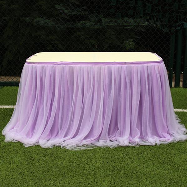 Nappe Dîner Mariage Dîner Blanc Rose Bleu Jupe de Table Décor Élégant