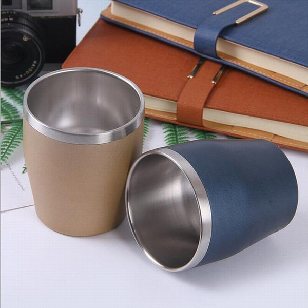 300ml Double-wall Egg Cup Wine Glass Mugs Tumbler 304 Stainless Steel Cup Wine Glasses Beer Cup Coffee Mug