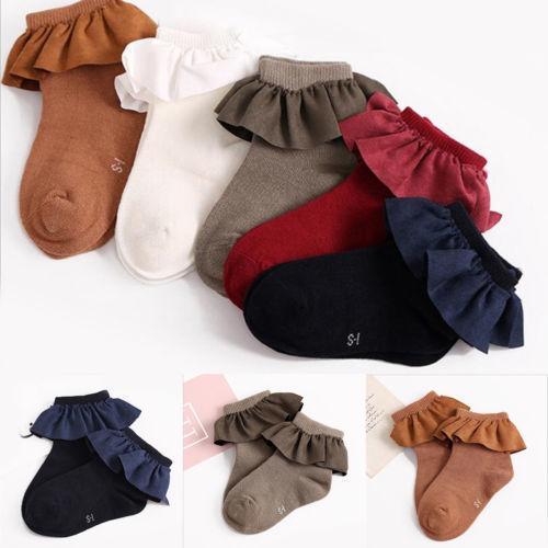 5 Цветных Малышей Короткие Носки С Кружевными Шнурками Веселые Счастливые Вязаные Детские Новорожденных Малышей Детские Носки Для Девочек в возрасте 2-8 лет