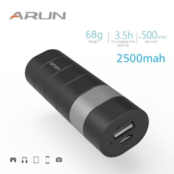 ARUN 2500mAh Power Bank 18650 External Charger Battery Pack Portable Mobile Phones Powerbank For Xiaomi iPhone Redmi MP3 MP4