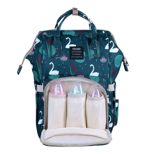 Пеленки сумки Рюкзаки Марка младенца Пеленки сумки Печатные подгузников Материнство рюкзак Дизайнер Уход сумка Baby Care Tote Designs WZW-YW2553