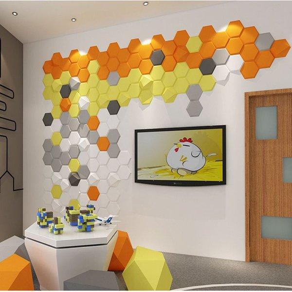 3D geometrische PU Vinyl Tapeten selbstklebende Wandverkleidungen minimalistische Tapete geometrische 3D Tapete Fototafel