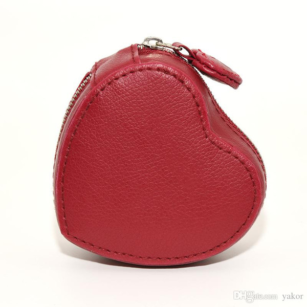 arrival High quality Red PU leather heart-shaped Jewelry Box for Pandora Charms Bracelet Bangle Original Boxes