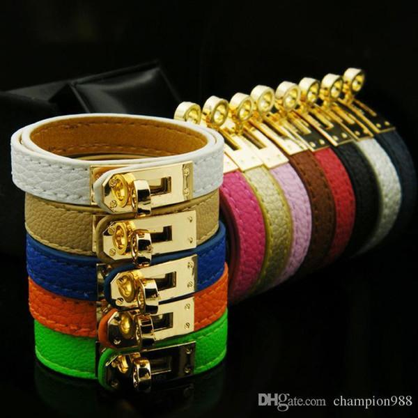 Bijoux USpecial en gros H boucle de ceinture, bracelet en cuir trois couches, bracelet de Kell, bracelets en cuir de lettre H, Bracelet pour hommes et femmes